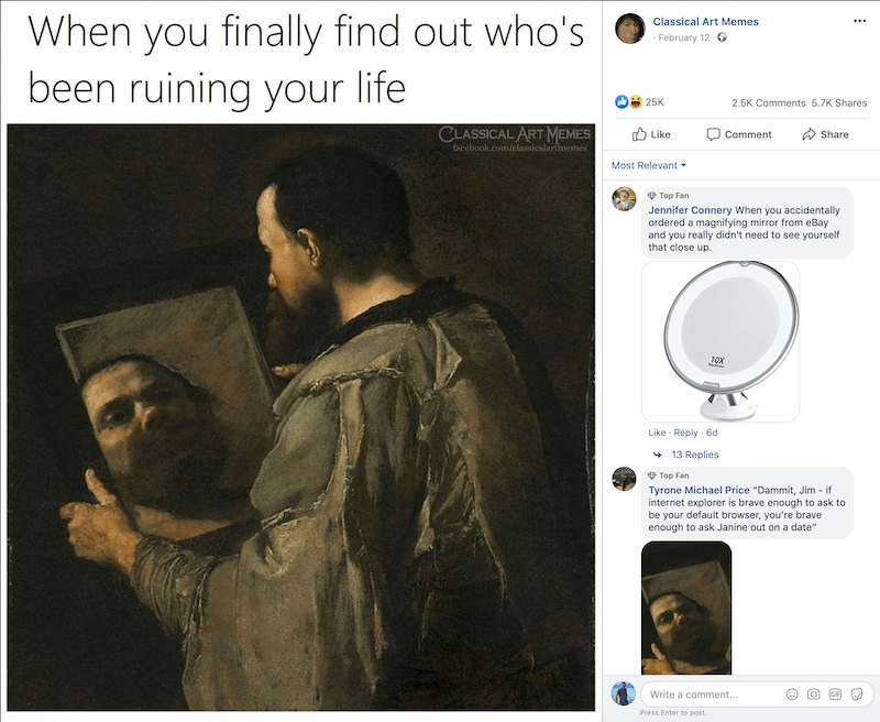 Meme from Classical Art Memes from Facebook