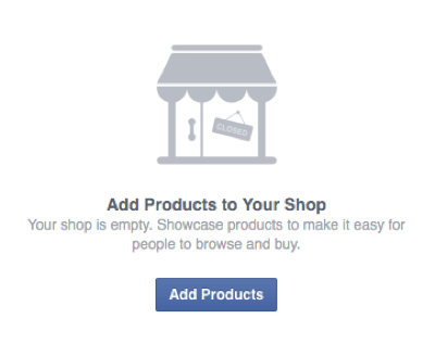 add products to facebook shop