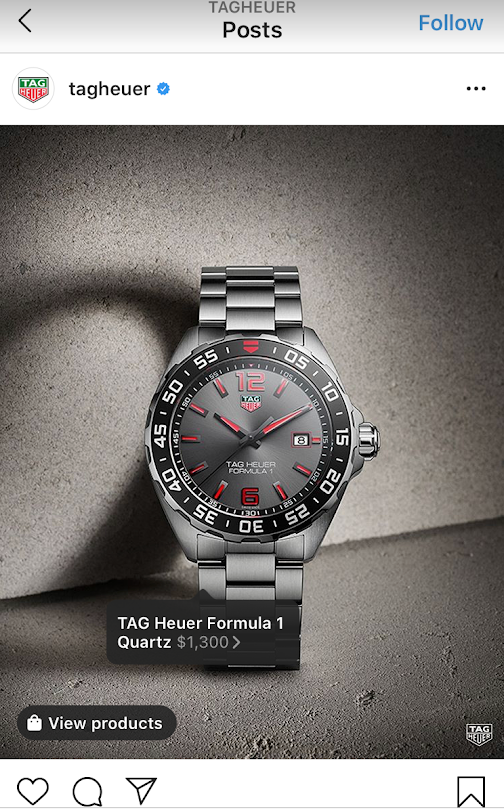 post on tagheuer Instagram