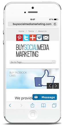 buysocialmediamarketing on phone buy facebook likes