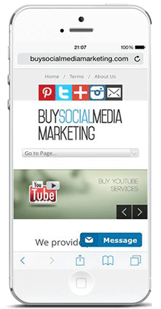 buysocialmediamarketing on phone buy youtube views