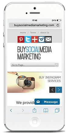 buysocialmediamarketing on phone buy instagram comments