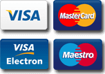 payment methods - credit and debit VISA and MASTERCARD cards